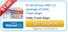 How much is in your vacation jar from coupons savings? $1.00 off any ONE (1) package of Hefty Trash Bags
