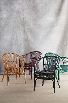 These Pari Rattan Chairs from Anthropologie would brighten up any living space!