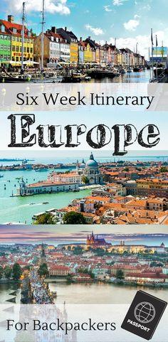 A European backpacking itinerary for 6 weeks. | Six weeks for Paris, London, Venice, Prague, Munich, Dublin, Galway, Vienna, and Edinburgh.