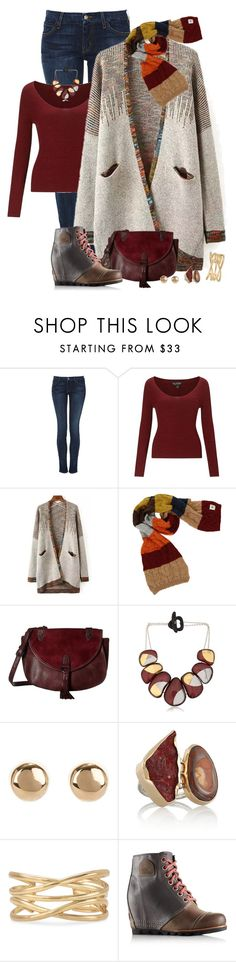 """a little oxblood"" by fashionista88 ❤ liked on Polyvore featuring Koral, Miss Selfridge, Avoca, Madden Girl, Arkimia, Jules Smith, Melissa Joy Manning, Stella & Dot and SOREL"
