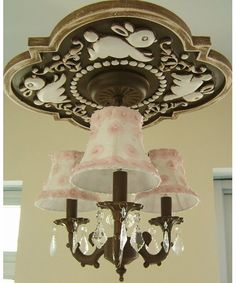 Bunnies Chandelier Medallion in Multiple Colors