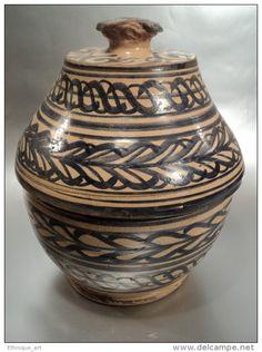 Ancienne Jobbana Pot à beurre Maroc Poterie Marocaine Pottery Terracotta Fès Meknès Safi