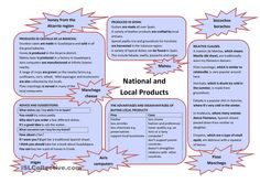 National and Local Products