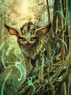Servalis Dtam-Chur Picture  (2d, fantasy, creature, cat)