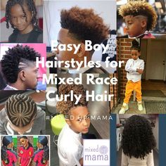 Curly Hair Biracial Boys Haircuts & Styles - Best hairstyles for Boys with curly, mixed race or biracial hair. Mixed Race Hairstyles, Cool Hairstyles For Boys, Creative Hairstyles, Boy Hairstyles, Mixed Boys Haircuts, Curly Kids, Boys With Curly Hair, Long Curly Hair, Curly Hair Styles