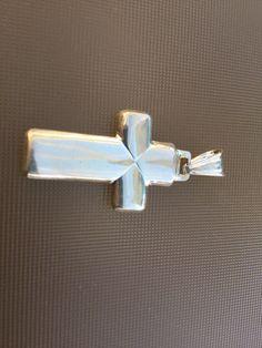 Sterling Silver Cross Pendant by Klcvintagetreasures on Etsy