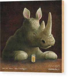 Rum Wood Print featuring the painting rum and rhino, by Will Bullas Graphic Illustrations, Bar Art, Animal Humor, Caravaggio, Art Studies, Rustic Feel, Got Print, Various Artists, Fine Art America