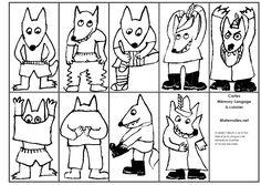 jeu de mémory  promenons-nous dans les bois prompts! for teaching clothing Montessori Classroom, Classroom Activities, Activities For Kids, Core French, French Class, Wolf, Storytelling Techniques, French Kids, Activity Sheets