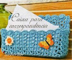 Grace y todo en Crochet: Beautiful box for your correspondence.....Linda ca...
