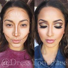 Several Important Tips on How To Contour for Real Life ★ Easy Contouring for Beginners picture 6 ★ S Easy Contouring, Make Up Tutorial Contouring, Contouring For Beginners, Makeup For Beginners, How To Blend Contouring, Highlighting Contouring, Makeup Tips, Beauty Makeup, Eye Makeup