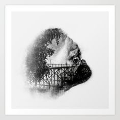 """With grey background - Gallery quality Giclée print on natural white, matte, ultra smooth, 100% cotton rag, acid and lignin free archival paper using Epson K3 archival inks. Custom trimmed with 1"""" border for framing."""