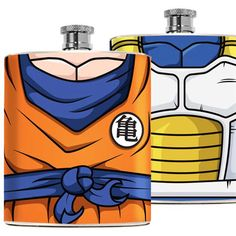 Go Super Saiyan on all your alcoholic adventures with theseDragon Ball Z inspired flasks. These durable stainless steel flasks fit conveniently in your pocket or purse and will hold up to 6 oz of your favorite liquor.
