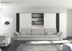 saln con doble cama abatible vertical y sof