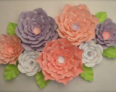 Flores de papel gigantes-Set de 7