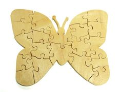 Butterfly Puzzle - Thin Natural Wood | berkshirebowls - Toys on ArtFire
