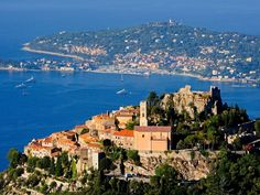 Must-See Spots on the French Riviera: ÈZE, France. Nestled in craggy cliffs high above the sea, the medieval village of Èze is an impressive addition to your French Riviera itinerary. The well-preserved stone buildings, winding alleyways, and dramatic Mediterranean backdrop make this tiny village seem like a set staged for a postcard. Bring your camera and a pair of good walking shoes—steep paths within the village bring you to the summit, which is a dizzying 1,400 feet above sea level.