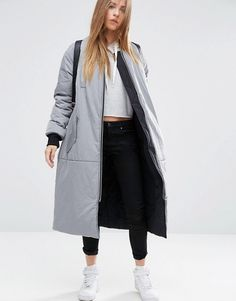 Discover the latest fashion & trends in menswear & womenswear at ASOS. Shop our collection of clothes, accessories, beauty & Latest Fashion Clothes, Latest Fashion Trends, Fashion Online, Asos Online Shopping, Online Shopping Clothes, Puffy Jacket, Padded Jacket, Long A Line, Duster Coat
