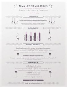 Interior Designer Resume. by Julio López, via Behance