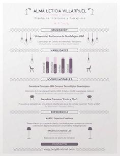 Interior Designer Resume. by Julio López, via Behance resume interior design, interior design cv, interior design resume