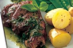 Baked lamb steaks Lamb is cheap and very easy to cook and for this baked lamb steaks recipe each portion is under 400 calories. It bakes in the oven, leaving you to get on with something else. Lamb Leg Steak Recipe, Lamb Steak Recipes, Lamb Steak Marinade, Oven Steak, Teriyaki Steak, Grill Oven, Grilled Recipes, Gourmet Recipes, Cooking Recipes