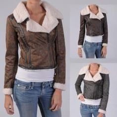 Ci Sono by Journee Junior's Wool Lined Faux Leather Jacket