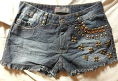 short jeans bordado - short pool