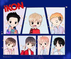 Hanbin, Ikon, Chibi, Fanart, Anime, Style, Dibujo, Im A Mess, Swag