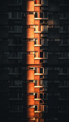 City building, facade, shine & shades, 1440x2560 wallpaper