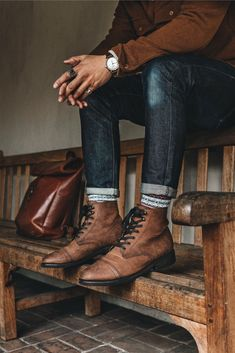 Mens Outdoor Fashion, Mens Boots Fashion, Classy Mens Fashion, Men's Fall Fashion, Rugged Men's Fashion, Rustic Mens Fashion, New Mens Fashion, Stylish Mens Outfits, Mens Fall Outfits