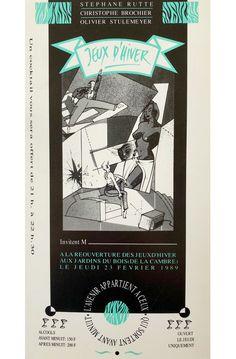 23/02/1989 - Inauguration des Jeux d'Hiver dans le bois de la Cambre. Design: C. Brochier Design, Art, Winter Games, Gaming, Woodwind Instrument, Art Background, Kunst, Design Comics, Art Education