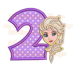 Cold Girl Face  nd Birthday Embroidery Applique