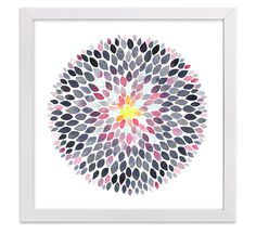 """Grace Dahlia"" by Jocelyn Edin, Minted art print #watercolor #minted #westelm #gardenofedin #dahlia"