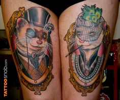 ferret tattoo - Not something I would get but I think it's creative and one of the better ferret tattoos I've seen