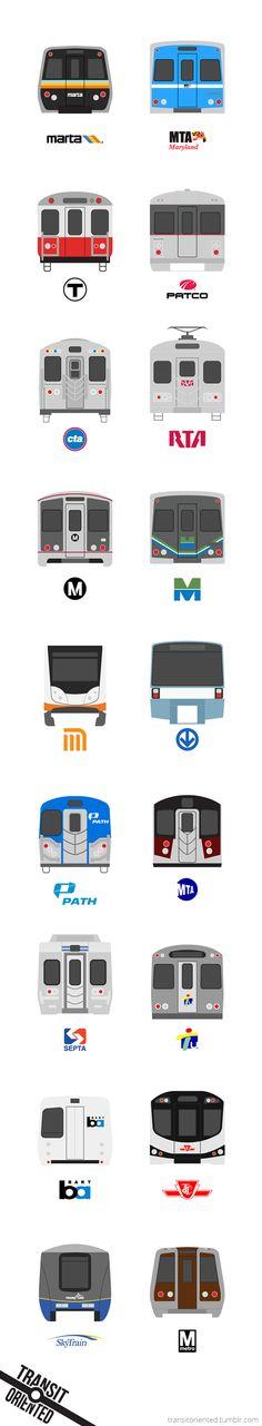 Subway Train Icons on Behance