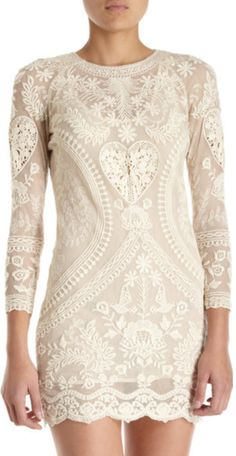 Isabel Marantish lace dress. - I'd stop pinning lace clothes if they stop making them so cute! --