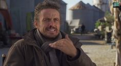 """Revolution Revealed, Season 2, Episode 13, """"Happy Endings"""" (screen cap). David Lyons slips and says, """"Mile's daugh...."""" But did the editors leave that in there on purpose? #revolution #nbcrevolution #davidlyons"""