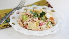 Springtime Chicken Salad. This gluten-free, Turkish-inspired twist on chicken salad features dried apricots and feta cheese.