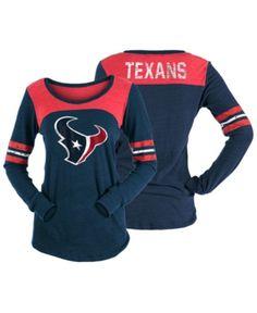5th   Ocean Women s Houston Texans Tri-Blend Distressed Long Sleeve T-Shirt  - 67e9b1e3e