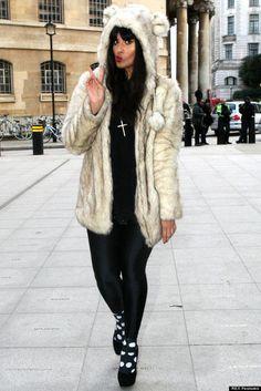 coat faux fur jacket pompom bear hood fur white fur coat animal ears Ahhh wear is this coat from??