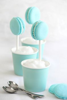 tiffany blue macaron pops