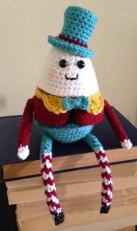"""Amigurumi Humpty Dumpty Puzzle Doll - FREE Crochet Pattern - PDF File - Click """"Download the FREE pattern here!"""" in blue letters here: http://bookpeoplestudio.wordpress.com/2014/08/18/free-pattern-humpty-dumpty-puzzle-doll/"""