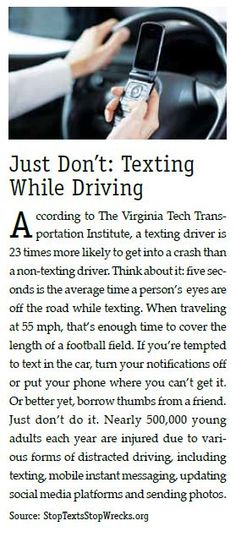 Just DON'T! (Texting While Driving)