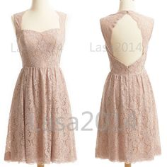 Pearl Pink Lace Party Dresses Short Lace Prom Dresses by LASA2014 0bb31fcb5f84