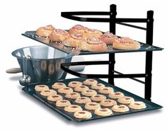 Linden Sweden Metal Baker's Cooling Rack - Baker's Shelf for Baking Sheets, Pizza Stones and Muffin Tins - Great for Crafts and Organization - Folds Flat for Easy Storage Space Saving Kitchen, Cooling Racks, Best Gifts For Mom, Kitchen Gifts, Kitchen Stuff, Kitchen Ware, Kitchen Dining, Awesome Kitchen, Kitchen Things