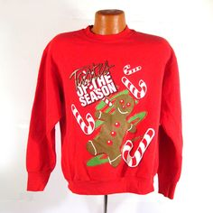 Ugly Christmas Sweater Vintage Sweatshirt by purevintageclothing Tastes of the Season Holiday Tacky