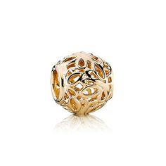 Pretty in gold #PANDORAcharm openwork design with butterflies
