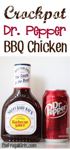 Crockpot Dr. Pepper BBQ Chicken Recipe ~ from TheFrugalGirls.com ~ you'll love how easy and delicious this is! #slowcooker #recipes