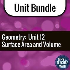 Surface Area and Volume Unit Bundle by Mrs E Teaches Math | Teachers Pay Teachers