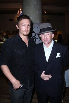 Norman Reedus and Max Perlich attend A Private Screening of Magnolia Pictures GONZO THE LIFE AND WORKS OF DR HUNTER S THOMPSON at Waverly Inn on June...