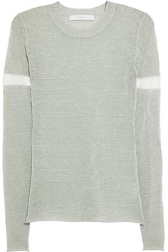 Dion Lee|Reflective knitted sweater|NET-A-PORTER.COM